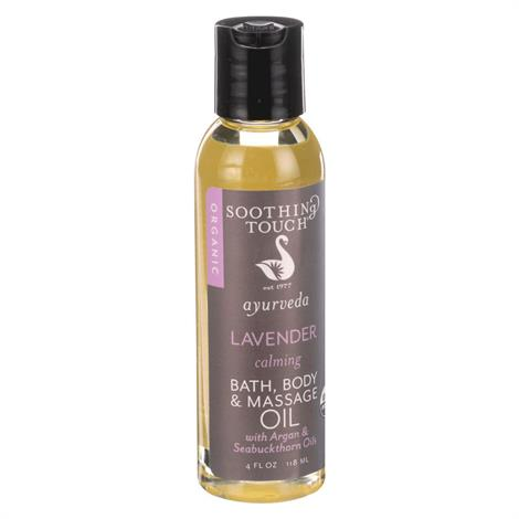 Soothing Touch Ayurveda Calming Lavender Organic Massage Oil,40z.,Bottle,Each,311416-08-OE008