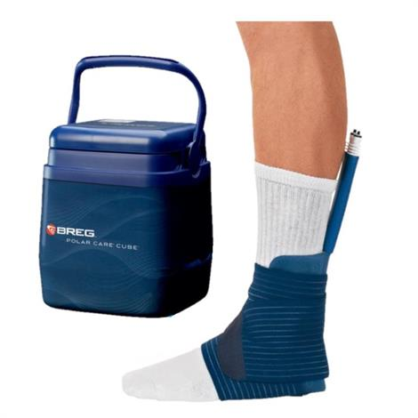 Breg Polar Care Cube Ankle Cold Therapy System,Cold Therapy System with WrapOn Ankle Pad,Each,10708