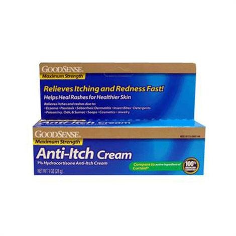 GoodSense Hydrocortisone Anti-Itch Cream,Hydrocortisone 1% Max Strength Anti-Itch Cream,Each,LP12513