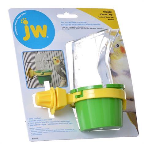 "JW Insight Clean Cup Feed & Water Cup,Medium (3"" Diameter x 5.5"" Tall),Each,31309"