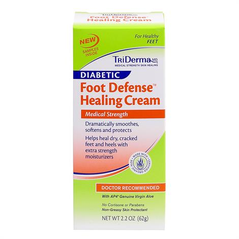 TriDerma Foot Defense Healing Cream,2.2oz,Tube,Each,64025
