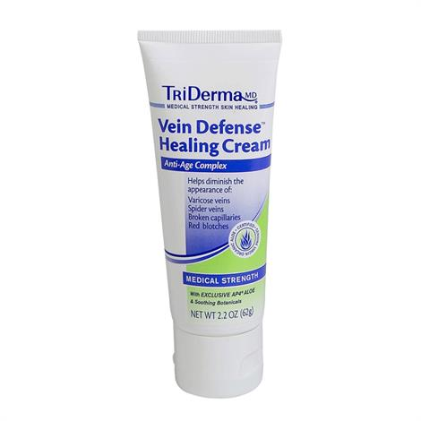 TriDerma Vein Defense Healing Cream,2.2oz,Tube,Each,74025