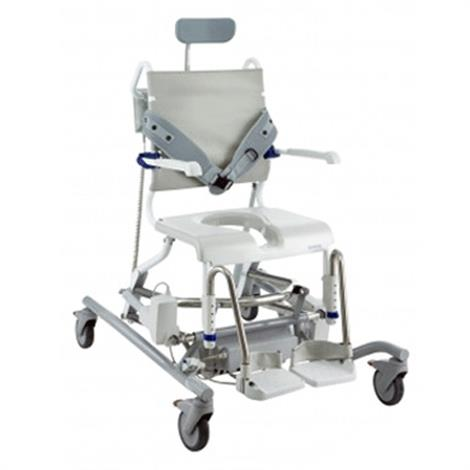 Clarke Aquatec Ocean E-VIP Electronically Adjustable Shower Commode Chair,0,Each,A1471208