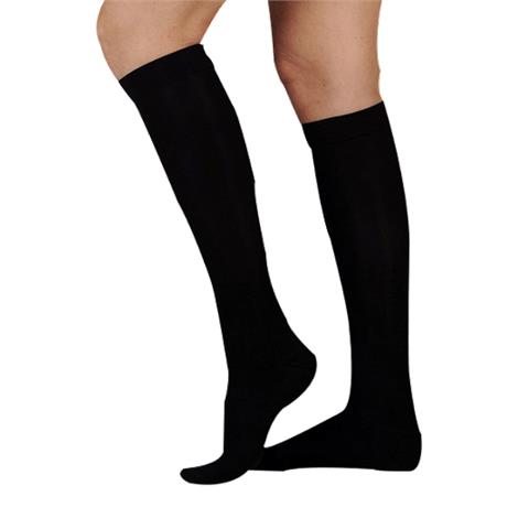 Juzo Soft Ribbed Knee High 20-30mmHg Compression Socks With Silver Sole For Men 14961