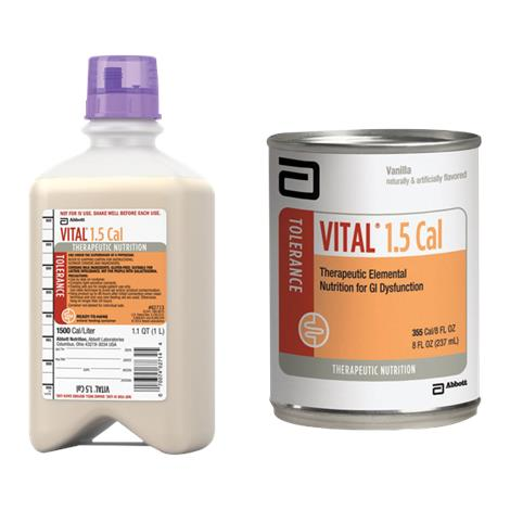 Abbott Vital 1.5 Cal Therapeutic Peptide-Based,Ready-to-Drink Vanilla,8fl oz (237mL),24/Case,56279