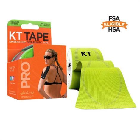 "KT Pro Elastic Sports Tape,2"" x 10"",Winner Green,20/Pack,900247-9"