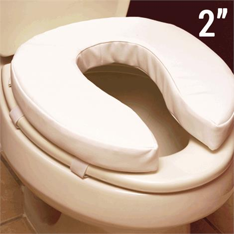 "Essential Medical Padded Toilet Seat Cushion,Height- 2"",Each,B5070"