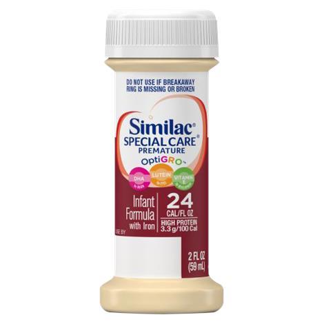 Abbott Similac Special Care 24 Premature High Formula With Iron,2fl oz (59ml) Bottle,48/Case,56271