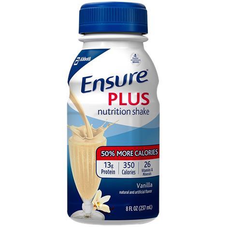 Abbott Ensure Plus Ready-to-Drink Complete Balanced,Butter Pecan,8fl oz (237ml),Bottle,24/Case,57272
