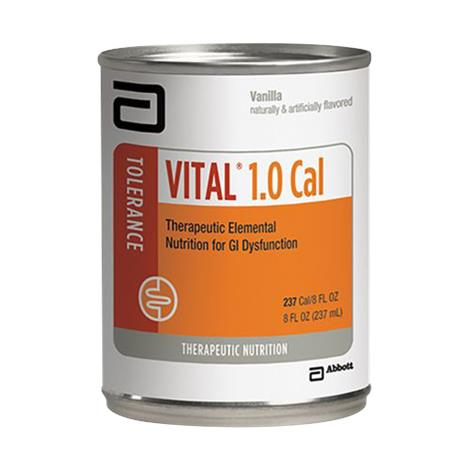 Abbott Vital 1.0 Cal Therapeutic Peptide-Based,Ready-to-Drink Vanilla,8-fl oz (237mL),Can,24/Pack,56277