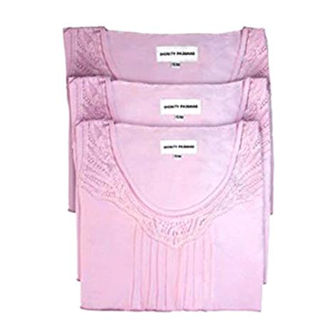 Dignity Pajamas 3-Pack Womens Cotton Cap sleeve Patient Gown,Large-XL,Pink,3/Pack,XS-106-3-PACK