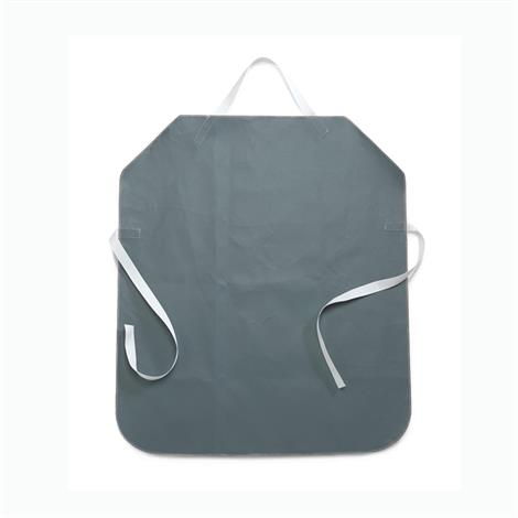 "Medline Non-Stick Coated Smokers Apron,Gray,34"" x 30"",Each,MDT014119"