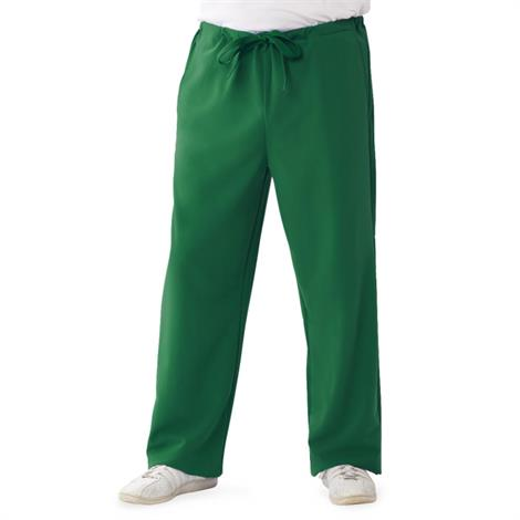 Medline Newport Ave Unisex Stretch Fabric Scrub Pants with Drawstring - Hunter Green,2X-Small,Regular Inseam,Each,5900HTRXXS