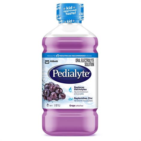 Abbott Pedialyte Ready-To-Use Electrolyte Solution,Bubble Gum,1 Liter Bottle,Each,64436