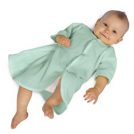 Medline Pediatric Napped Kimono,Green,24/Pack,MDT011441