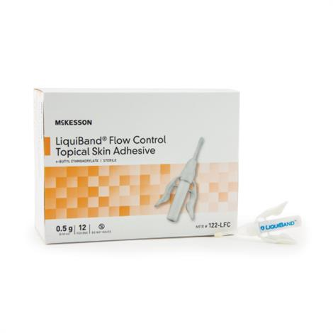 McKesson LIQUIBAND Flow Control Topical Skin Adhesive,0.5gm,12/Pack,122-LFC