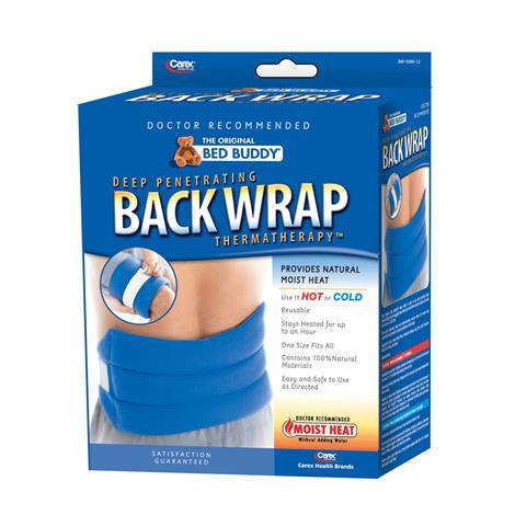 Carex Bed Buddy Moist Heat Back Wrap,Blue,Each,BBF5085-12