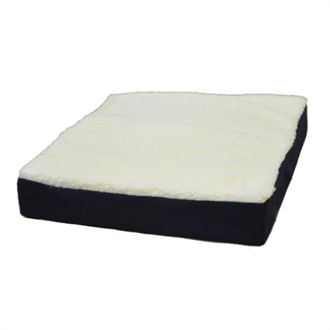"Complete Medical Gel Wheelchair Cushion With Fleece Top,16"" x 18"" x 3.5"",Each,1989A"