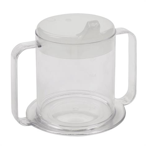 Drive Lifestyle Clear Two Handle Cup,Clear 2-Handle Cup,Each,RTL3515