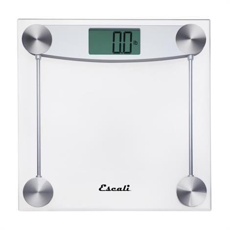 Escali Clear Glass Bathroom Scale,Bathroom Scale - Square,Each,E184