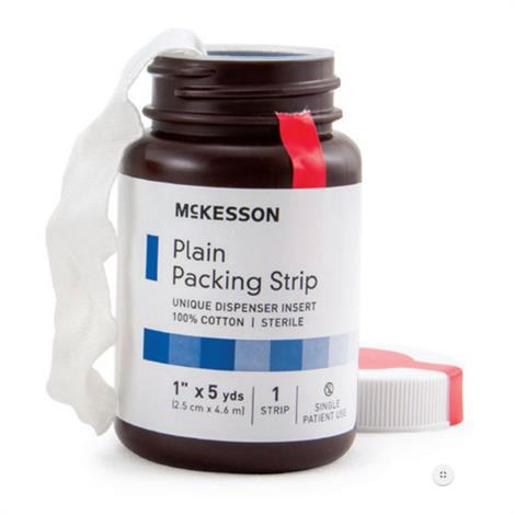 Mckesson Plain Packing Cotton Strip,1/2