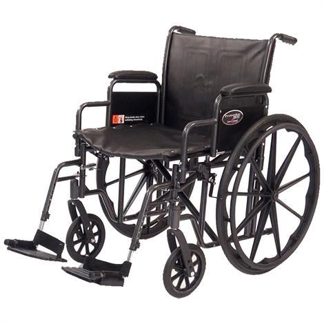 Graham Field Everest & Jennings Traveler HD Wheelchair,20X18 Detachable Desk Arm,Elevating Legrest,Each,3G010330