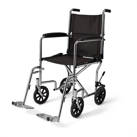 Medline Steel Transport Chair,0,Each,MDS80