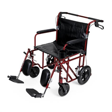 Medline Freedom Plus Bariatric Transport Wheelchair,0,Each,MDS80
