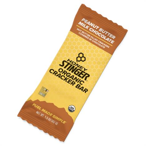 Honey Stinger Organic Cracker Bar,Almond Butter Dark Chocolate,Each,8140316
