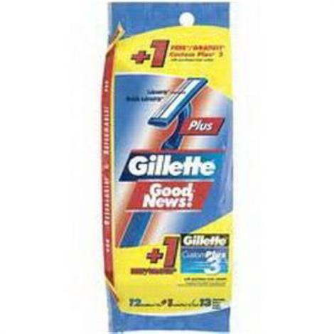 Cardinal Health Gillette Good News Razor,Regular,12/Pack,3546751