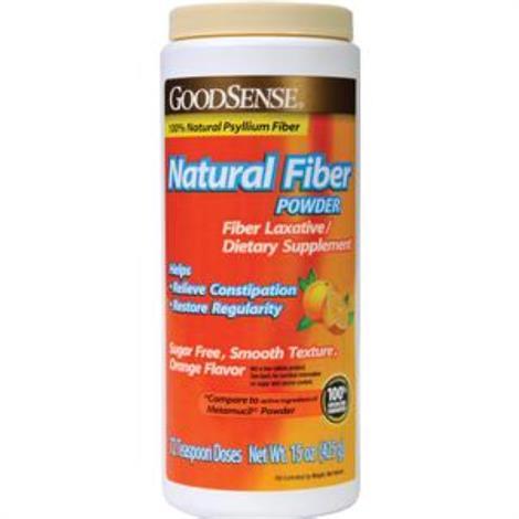 GoodSense Natural Fiber Powder,Orange,15 oz,Each,GD00362