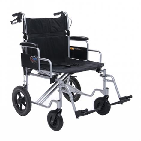 "Graham Field Everest & Jennings Bariatric Transport Chair,Seat 24""W x 18""D x 20""H,Each,EJ777-3"