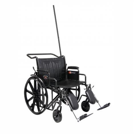 "Graham Field Everest And Jennings Traveler HTC Wheelchair,20"" x 18"",Fixed Desk Arm,Elevating Legrest,Each,3J010330"