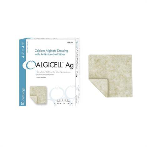 "Derma Algicell Ag Calcium Alginate Dressing with Antimicrobial Silver,2"" x 2"",Each,88522"