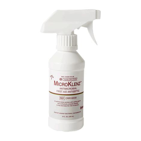 Carrington MicroKlenz Deodorizing Wound Cleanser,8oz,Spray Bottle,6/Pack,CRR108008