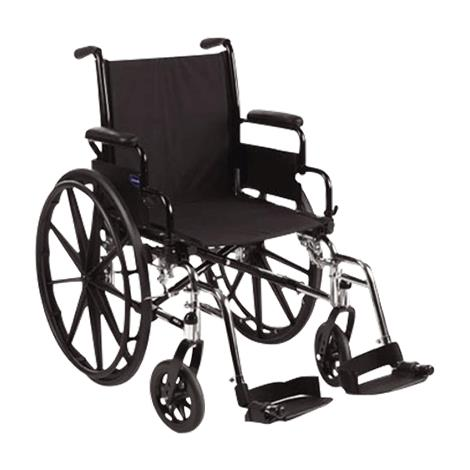 "Invacare Tracer SX5 16 Inches Frame Silver Vein Wheelchair,16"" x 16"" Wheelchair Without Footrest or Legrest,Each,TRSX56FBP"