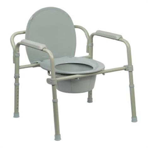 Mckesson Folding Steel Frame Commode Chair,Blue,7.5qt Bucket,Each,146-RTL11158KDR