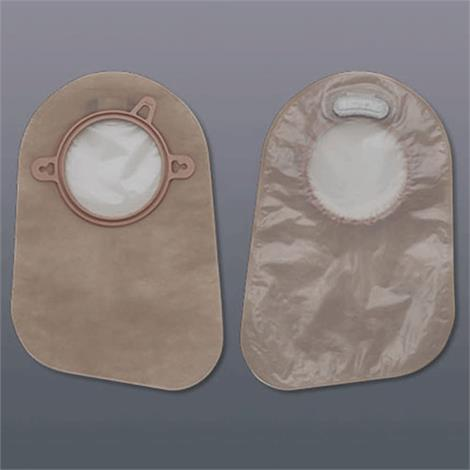 "Hollister New Image Two-Piece Beige Closed-End Pouch With Integrated Filter,Blue,2.75"" (70mm) Flange Size,60/Pack,18374"