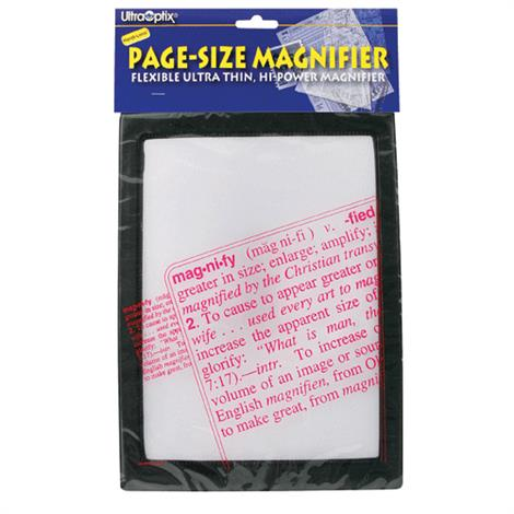 """Complete Medical Magnifier Full Page Reading Fresnel with Border,Reading Magnifier,7"""" x 10"""" lens,Each,2237"""