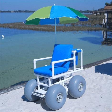 Healthline Medical All Terrain Beach Wheelchair,With Large Wheels,Each,WHEELEEZ-4