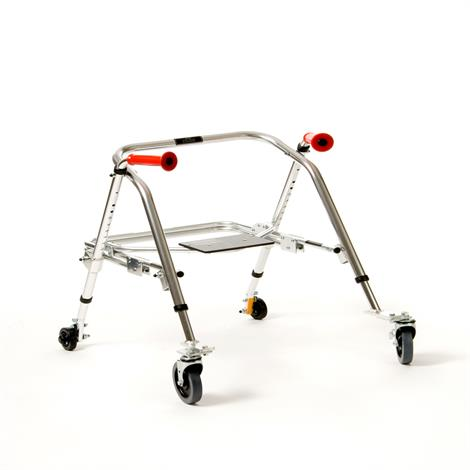Kaye PostureRest Four Wheel Large Walker With Seat And Installed Silent Rear Wheel