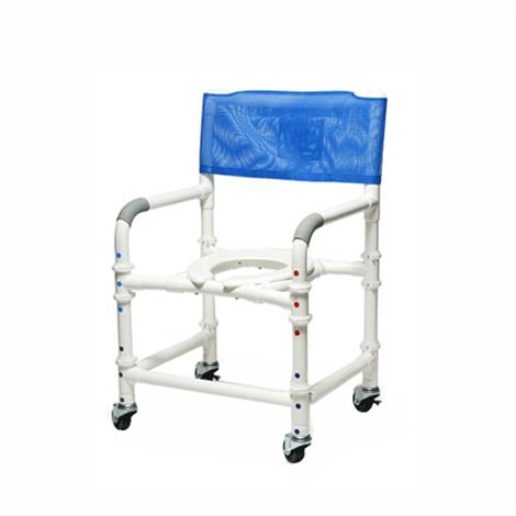 "Graham-Field Lumex PVC Knock-Down Shower Commode Chair,Seat Width,18"",Each,89100-KD"