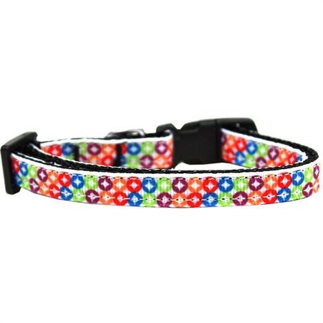 Mirage Bright Diamonds Nylon Ribbon Dog Collar,Medium,Each,125-199 MD
