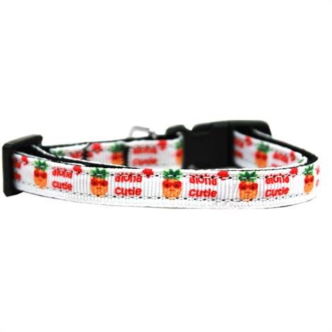 """Mirage Aloha Cutie Nylon Ribbon Cat Safety Collar,Neck 6""""-10"""" and Width 3/8"""",Each,125-189 CT"""