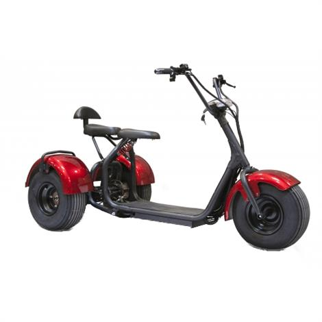 EWheels EW-21 Chopper Trike Scooter,Red,Each,EW-21 EWHEW-21