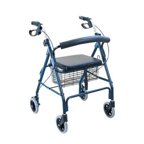 BodyMed Aluminum Rollator,Blue,Each,ZZRROL01BLU