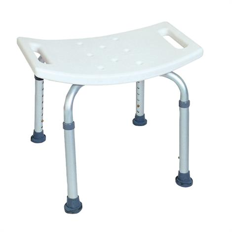 BodyMed Aluminum Shower Chair,With Backrest,Each,ZZRCHR02