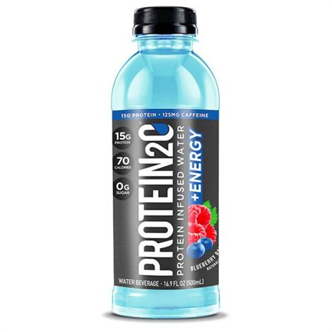 2o Plus Energy Low Calorie Infused Water,Blueberry Raspberry,12/Pack,5210006
