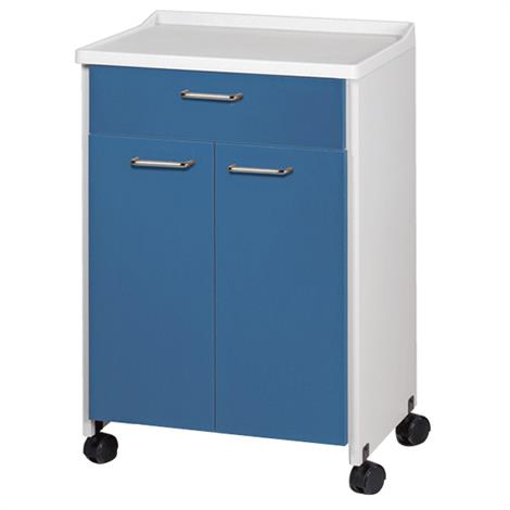Clinton Molded Top Mobile Treatment Cabinet with Two Doors and One Drawer,0,Each,8921-A