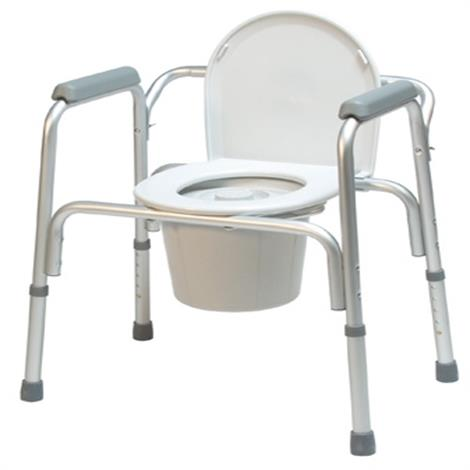 Graham-Field Lumex 3-in-1 Aluminum Commode with Removable Back Bar,Aluminum Commode,4/Pack,2195A-4